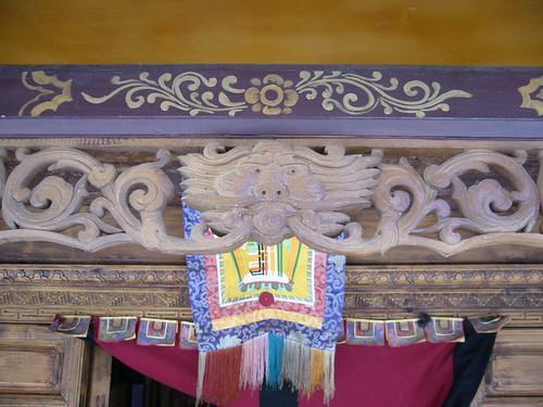 Tibetan wood carving