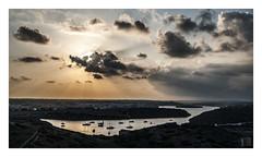 La bahía / the bay (Luis kBAU) Tags: sky cielo reflejo bahia bay mahon menorca clouds nubes sunset puestasol