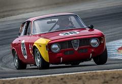 1965 Alfa Romeo GTA Corsa @ Laguna Seca 2018 (Dennis Schrader Photography) Tags: california cars dennisschraderphotography historic d500 gtacorsa lagunaseca alfaromeo 2016 nikon mazdaraceway monterey unitedstates us