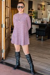 Sweater Dress, Boots (Ron Scubadiver's Wild Life) Tags: nikon 50mm sedona arizona peoplep portrait boots outdoor sweater
