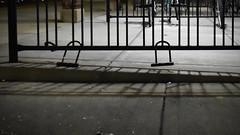 U Locks (Crawford Brian) Tags: lock bike bicycle bikerack lagrange illinois trainstation night shadow dark bikelock