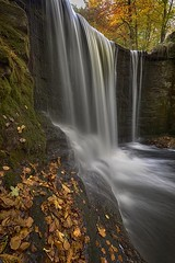 'As close as possible, Nant Mill Falls' (Meurig2011) Tags: nantmill coedpoeth waterfall leaves water autumn northwalesh