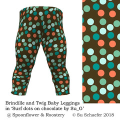 'Surf dots on chocolate by Su_G': Baby leggings mockup (Su_G) Tags: sug 2018 spoonflower roostery sproutpatterns sewing dressmaking surfdotsonchocolatebysug babyleggings mockup leggings toddler baby childrensclothing surfdotsonchocolate dots chocolatebrown limitedcolorpalette restrictedpalette spoonflower0252 brown modern clothingpattern brindilleandtwig spoonflowerssurfingcontest spoonflowercontest