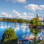 Lake Placid - New York - MIrror Lake - Autumn Scene thumbnail