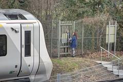 Trespasser on the Track? (marktandy) Tags: arunvalley railway southernrail southernrailway southern thameslink hawth crawley threebridges trespass trespasser train delay march 2019 sussexpolice police policeman pc