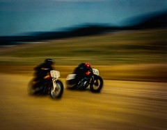 Racers (Tim @ Photovisions) Tags: nikon motorcycle bike cycle blur race track dirt road film kodachrome64