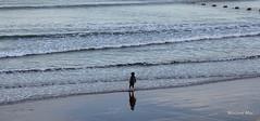 Memories made (mootzie) Tags: girl beach sea waves pink rubber wellies sand aberdeen scotland memories blue spade yellow