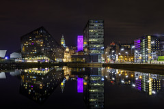 Upon reflection... (Spokenwheelphotography) Tags: liverpool liverpoolwaterfront liverbuilding liverbirds liverpoolecho fuji fujifilm fujifilmxt2 fujilove xt2 23mmf2 merseyside architecture architecturephotography modernarchitecture reflection reflections night nightphotography street streetphotography lights lighthouse