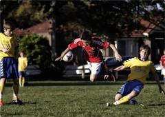 Hard Play (Peter Polder) Tags: australia sport park city exterior grass l