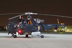 M-3 Northolt 14-03-19 (IanL2) Tags: aerospatiale sudaviation alouette m3 raf northolt nightshoot helicopter baf belgianairforce