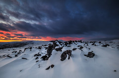 """ BLUE HPUR "" (Wiffsmiff23) Tags: breconbeaconsnationalpark brecon southwales snow dramatic drama sunrise mountain mountains red flames fire"