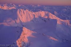 Pink Light (Dan Bailey Photo) Tags: alaska aerialphoto winter mountian peak summit sunset pink alpenglow landscape scenic usa