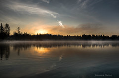November Sky (jeanmarie's photography) Tags: jeanmarieshelton cottagelake clouds sunrise sky serene reflection trees light landscape water waterscape woodinvillewa nikon tamronlens