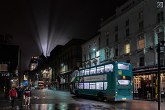 Up and Down Dale Street. (alundisleyimages@gmail.com) Tags: liverpool dalestreet city night lowlight longexposure citylife urban architecture buildings historic businesses buses townhall lightbeams publictransport people weather damp reflections england northwest