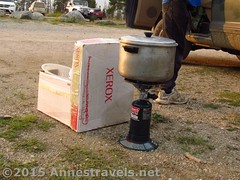Coleman Single Burner Propane Stove in Use (Anne's Travels3) Tags: coleman propane stove review green