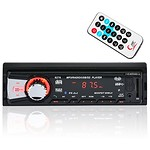 Car Stereo Bluetooth MP3 Receiver, Catuo Digital Media Audio Receiver MP3 Player with Aux Input USB/FM/SD MP3 Bluetooth In-Dash FM Radio Built in MIC Off Time Display Function, Wireless Remote Control thumbnail