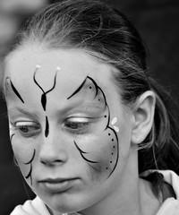 B&W Butterfly (L_u_c) Tags: girl fille bw nikon blackandwhite biancoenero portrait makeup maquillage meisje vrouw opmaak noir blanc noiretblanc candid butterfly papillon vlinder
