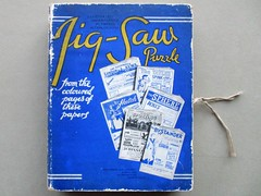 A Present from Caesar - box front (pefkosmad) Tags: jigsaw puzzle hobby leisure pastime secondhand used vintage complete chadvalley wood wooden plywood apresentfromcaesar fortuninomatania illustratednewspapers art fineart painting promotionalmaterial interlocking agiftfromcaesar box packaging