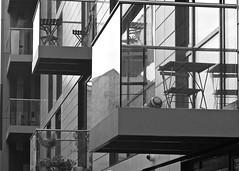 Football (alicejack2002) Tags: football balconies bw leica summicron50mm london building lines urban