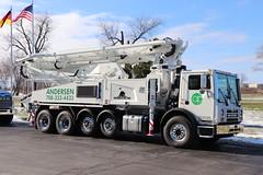 Andersen concrete pump truck (raserf) Tags: andersen pump pumper pumping concrete cement truck trucks putzmeister sturtevant wisconsin racine county south holland illinois mack