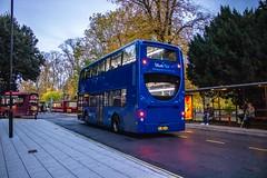 Plain rear (mangopearuk) Tags: uk unitedkingdom england hampshire southampton citycentre publictransport transit publictransit bus buses blue
