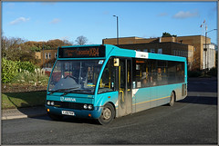 Arriva Midlands 2403 (Jason 87030) Tags: x84 optare solo arriva midlands hinckleybus turquoise blue rigby leicester shot roadside light color colour wheels 2403 yj58pkn warwickshire service route