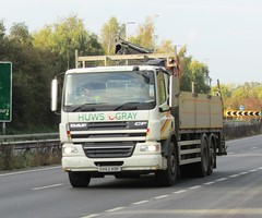 Huws Gray DX63 XOF on the A5 at Shrewsbury (Joshhowells27) Tags: lorry daf cf dafcf huwsgray dx63xof
