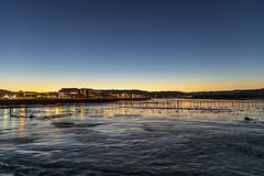 Icy seaside with Venus. (Trond Sollihaug) Tags: stjørdal tangen trøndelag norway sky seaside sunrise ice water ocean canoneos5dmkiv canonef24105mmf4lisiiusm