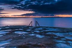 Purple and Orange Dawn Waterscape over the Lake (Merrillie) Tags: daybreak daylight sunrise nature australia newsouthwales lake morning gorokan marsh earlymorning nsw tuggerahlake wetland tuggerahlakes landscape wavedominatedbarrierestuary sky coastal pipeclaypoint outdoors waterscape estuary centralcoast water dawn
