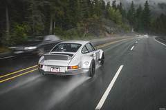 Porsche 964 RWB (Dylan King Photography) Tags: porsche 911 912 964 993 996 997 991 gt3 rs r rwb rauhwelt begriff rauhweltbegriff rain sea sky vancouver whistler bc british columbia canada rolling wet