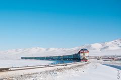 Locomotive 2Zagal-010... (N.Batkhurel) Tags: season winter sky snow railway railfan 1520 trains trainspotting transport passengertrain mongolia monrailpic mountian ngc nikon nikond5200 nikkor