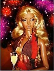 🎈🎊🎆 Happy New Year! 🎆🎊🎈 (Deejay Bafaroy) Tags: facesofadele adele makeda integrity toys fashion royalty thefacesofadele doll puppe fr black schwarz portrait porträt blonde blond happynewyear newyear 2019 gutesneuesjahr frohesneuesjahr neuesjahr newyearseve silvester 2018 festive festlich red rot orange purple lilac violett lila