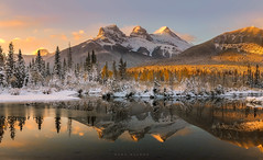 The Three Sisters (Mark McLeod 80) Tags: 2018 autumn canada canmore markmcleod markmcleodphotography mountain policemancreek colour fall forest landscape snow winter