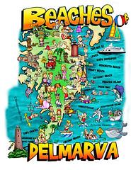 """Beaches of Delmarva"" old travel postcard (delmarvausa) Tags: disappearingdelmarva allgone postcard vintage delmarva delmarvapeninsula maryland vintagedelmarva postcards oldpostcard delaware easternshore vintagepostcard thingsthataregone map souvenir eastcoast midatlantic beachesofdelmarva marylandseasternshore"