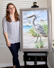 Blue Heron (Piedmont Fossil) Tags: art painting blue heron bird beach scene acrylic kelly explored