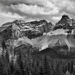 Cathedral Crags Portrait (Black & White, Yoho National Park) thumbnail