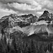 Cathedral Crags Portrait (Black & White, Yoho National Park)