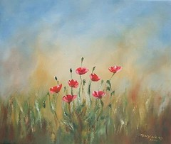 This little oil painting painted 8 years ago, from a series of 6 paintings. #poppies #leastweforget #100years #remember #rememberanceday #art #painting #oils #landscape #instagramart (Tony Nero) Tags: artoftonynero tony nero art peterorough cambridgeshire creative out about craft paintings