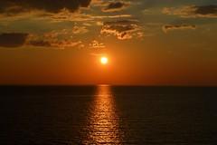 Skagerrak Strait Sunset (Seventh Heaven Photography *) Tags: skagerrak strait sunset dusk water sky clouds silhouette red nikon d3200 reflections sun light
