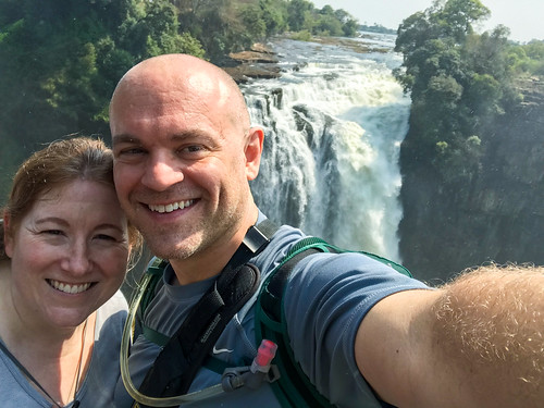 Selfie at Victoria Falls
