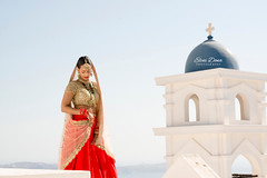 Hindu wedding in Santorini, Greece, Aashish & Divya
