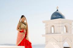 Hindu wedding in Santorini, Greece, Aashish & Divya