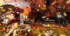 Second Life 10.11.18 (Angelo Diabolico) Tags: autumn garden pose poses secondlife maitreya wind leaves posebento bento posesl posessl posesecondlife posessecondlife bentopose avsitter prop