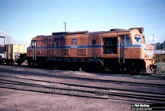 3798 X1021 Bunbury Loco 18 June 1983 (RailWA) Tags: railwa philmelling westrail 1983 x1021 bunbury loco