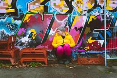 172.366 Anti-mimesis jpg (HelenHates Peas) Tags: selfportrait self selfie me graffiti crouchend streetart london whenartimitateslife