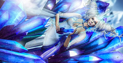 Crystal Queen (meriluu17) Tags: enchantment crystal crystals glamaffair queen majesty princess honor shine glass stone blue royal regal people fantasy surreal foxcity