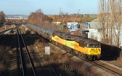 Double-Headed Grids At Horbury. (Neil Harvey 156) Tags: railway 56090 56087 horbury wakefield prestondockstanks prestontanks bitumentanks 6e32 class56 colasrail colas grid doubleheaded