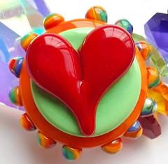 Lampworked Bead by Catherine Steele (Cambridge Springs, PA) (diamondboa) Tags: focalbead bead lampworked glass handmade heart
