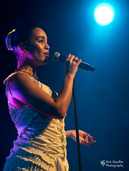 Jorja Smith @ Showbox SoDo (Kirk Stauffer) Tags: kirk stauffer photographer nikon d5 adorable amazing attractive awesome beautiful beauty charming cute darling fabulous feminine glamour glamorous goddess gorgeous lovable lovely perfect petite precious pretty siren stunning sweet wonderful young female girl lady woman women live music tour concert show stage gig sing singer singing vocals vocalist performer musician band lights lighting indie rb soul long short brown hair brunette eyes white teeth red lips model tall fashion style dress portrait photo smile smiling