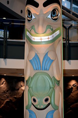 Very beautiful large  westcoast totems.  These were new additions to the vancouver airport. Bc. (vermillion$baby) Tags: nativeart airlines airport art carvng color firstnations haida red totem vancouver westcoast wood artsculpture native pacificnorthwest artofnorthamerica artofnativenorthamerica museum carving sculpture woodcarving museums artofthenative vivid aborigine